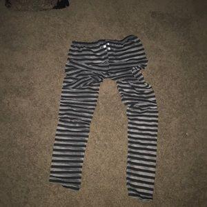 Sheer stripped leggings